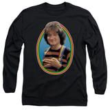 Mork & Mindy Mork Long Sleeve Adult 18/1 T-Shirt Black