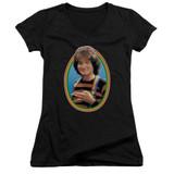 Mork & Mindy Mork Junior Women's T-Shirt V-Neck Black