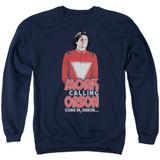 Mork & Mindy Come In Orson Adult Crewneck Sweatshirt Navy