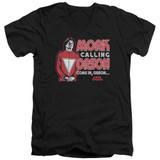Mork & Mindy Mork Calling Orson S/S Adult V-Neck T-Shirt Black