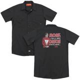 Mork & Mindy Mork Calling Orson (Back Print) Adult Work Shirt Black
