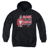 Mork & Mindy Mork Calling Orson Youth Pullover Hoodie Sweatshirt Black