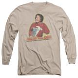 Mork & Mindy Mork Iron On Long Sleeve Adult 18/1 T-Shirt Sand