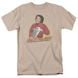 Mork & Mindy Mork Iron On S/S Adult 18/1 T-Shirt Sand