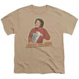 Mork & Mindy Mork Iron On S/S Youth 18/1 T-Shirt Sand