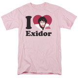 Mork & Mindy I Heart Exidor S/S Adult 18/1 T-Shirt Pink