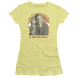 Mister Rogers A Special Day S/S Junior Women's T-Shirt Sheer Banana