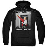 Mister Rogers A Snappy New Day Adult Pullover Hoodie Sweatshirt Black