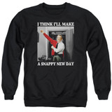 Mister Rogers A Snappy New Day Adult Crewneck Sweatshirt Black