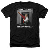 Mister Rogers A Snappy New Day Adult T-Shirt Heather Black