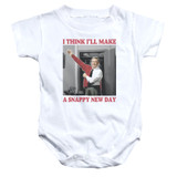 Mister Rogers A Snappy New Day Infant Romper Snapsuit White