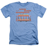 Mister Rogers Trolly Adult T-Shirt Heather Light Blue