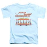 Mister Rogers Trolly S/S Toddler T-Shirt Light Blue