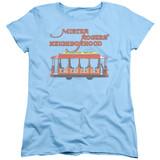 Mister Rogers Trolly S/S Women's T-Shirt Light Blue