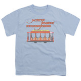 Mister Rogers Trolly S/S Youth 18/1 T-Shirt Light Blue