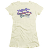 Mister Rogers Just They Way You Are S/S Junior Women's T-Shirt Sheer Cream