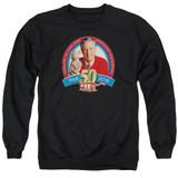 Mister Rogers 50th Anniversary Design Adult Crewneck Sweatshirt Black