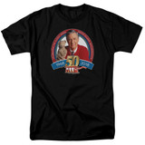 Mister Rogers 50th Anniversary Design S/S Adult 18/1 T-Shirt Black