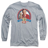 Mister Rogers 50th Anniversary Design Long Sleeve Adult 18/1 T-Shirt Athletic Heather