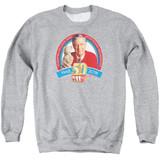 Mister Rogers 50th Anniversary Design Adult Crewneck Sweatshirt Athletic Heather