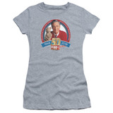 Mister Rogers 50th Anniversary Design S/S Junior Women's T-Shirt Sheer Athletic Heather