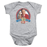 Mister Rogers 50th Anniversary Design Infant Romper Snapsuit Athletic Heather