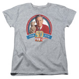 Mister Rogers 50th Anniversary Design S/S Women's T-Shirt Athletic Heather
