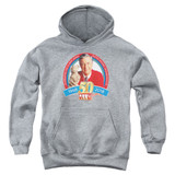 Mister Rogers 50th Anniversary Design Youth Pullover Hoodie Sweatshirt Athletic Heather