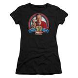 Mister Rogers 50th Anniversary Design S/S Junior Women's T-Shirt Sheer Black