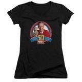 Mister Rogers 50th Anniversary Design Junior Women's T-Shirt V Neck Black