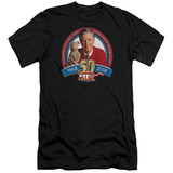 Mister Rogers 50th Anniversary Design Premium S/S Adult 30/1 T-Shirt Black
