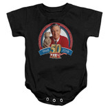 Mister Rogers 50th Anniversary Design Infant Romper Snapsuit Black