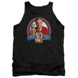 Mister Rogers 50th Anniversary Design Adult Tank Top Black