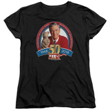 Mister Rogers 50th Anniversary Design S/S Women's T-Shirt Black