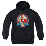Mister Rogers 50th Anniversary Design Youth Pullover Hoodie Sweatshirt Black
