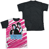 Wham Boys Adult Sublimated T-Shirt White/Black