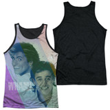 Wham Pastel Lines Adult Sublimated Tank Top T-Shirt White/Black
