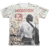 Woodstock Apart From The Crowd Adult Sublimated T-Shirt White