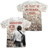 Woodstock Apart From The Crowd (Front/Back Print) Adult Sublimated Crew T-Shirt White