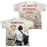Woodstock Apart From The Crowd (Front/Back Print) Youth Sublimated Crew T-Shirt White