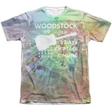 Woodstock On The Hill Adult Sublimated T-Shirt White