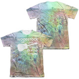 Woodstock On The Hill (Front/Back Print) Adult Sublimated T-Shirt White