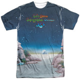Yes Topographic Oceans Adult Sublimated Crew T-Shirt White