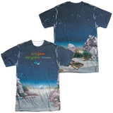 Yes Topographic Oceans (Front/Back Print) Adult Sublimated Crew T-Shirt White