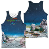 Yes Topographic Oceans (Front/Back Print) Adult Sublimated Tank Top T-Shirt White