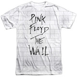Roger Waters Pink Floyd The Wall Adult Sublimated Crew T-Shirt White