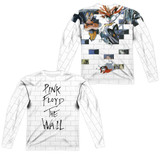 Roger Waters Pink Floyd The Wall (Front/Back Print) Adult Sublimated Long Sleeve T-Shirt White