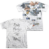 Roger Waters Pink Floyd The Wall (Front/Back Print) Adult Sublimated T-Shirt White