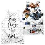 Roger Waters Pink Floyd The Wall (Front/Back Print) Adult Sublimated Tank Top T-Shirt White