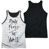 Roger Waters Pink Floyd The Wall Adult Sublimated Tank Top T-Shirt White/Black